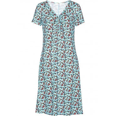 Kleid, Kurzarm in blau von bonprix