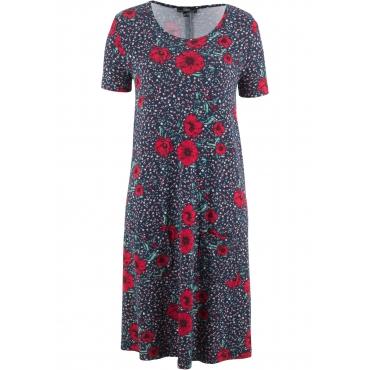 Jerseykleid kurzer Arm  in blau für Damen von bonprix
