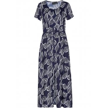 Kleid kurzer Arm  in blau (Rundhals)  von bonprix