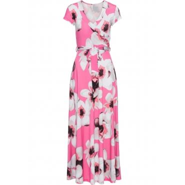Kleid in Wickeloptik kurzer Arm  in pink von bonprix