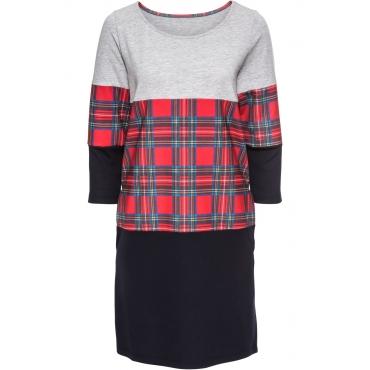 Kleid langarm  in grau (Rundhals) von bonprix