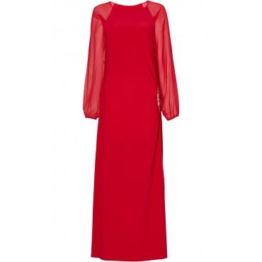 Kleid langarm  in rot von bonprix