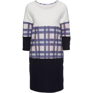 Kleid langarm  in weiß (Rundhals) von bonprix