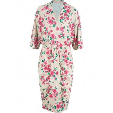 25eb19b2c3b7e1 Maite Kelly Kleid mit Kimono - Ärmel 3/4 Arm in beige von bonprix