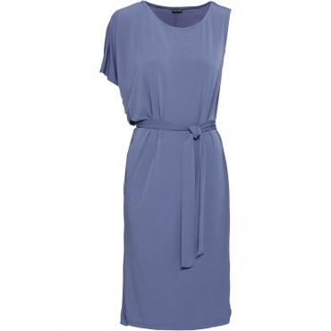 Kleid mit asymmetrischen Ärmeln halber Arm  in lila für Damen von bonprix