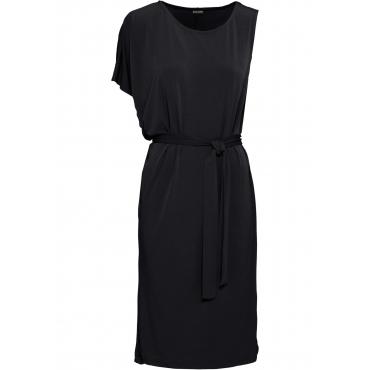 Kleid mit asymmetrischen Ärmeln halber Arm  in schwarz für Damen von bonprix