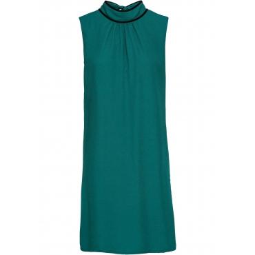 Kleid mit Bindeband ohne Ärmel  in petrol für Damen von bonprix