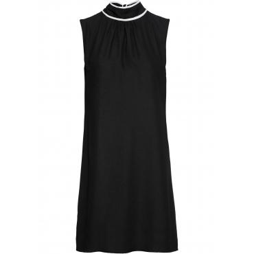 Kleid mit Bindeband ohne Ärmel  in schwarz für Damen von bonprix