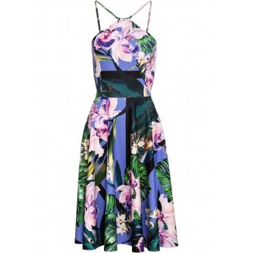 af4ba09cb4d82f Kleid mit Blumen ohne Ärmel in blau für Damen von bonprix