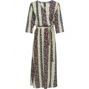 Kleid mit Blumenmuster 3/4 Arm  in gelb von bonprix