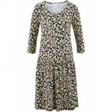 Kleid mit Blumenprint - designt von Maite Kelly 3/4 Arm  in schwarz von bonprix