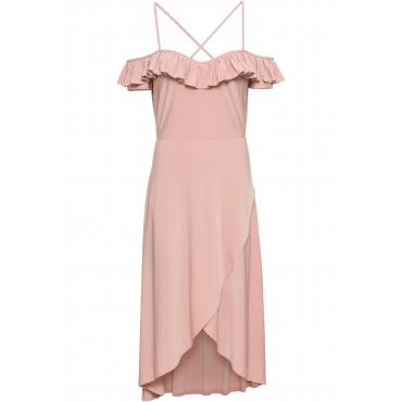 Kleid mit Carmen-Ausschnitt in rosa von bonprix