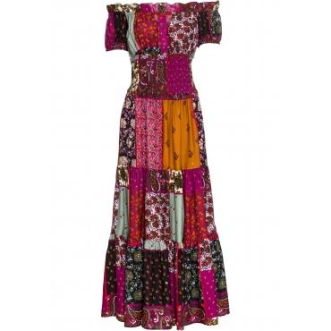 Kleid mit Carmen-Ausschnitt in rot von bonprix