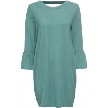 Kleid mit Cut-Out auf dem Rücken langarm  in grün von bonprix