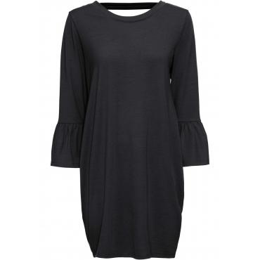 Kleid mit Cut-Out auf dem Rücken langarm  in schwarz von bonprix
