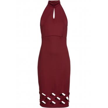 Kleid mit Cut Outs ohne Ärmel  in rot von bonprix