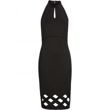 Kleid mit Cut Outs ohne Ärmel  in schwarz von bonprix