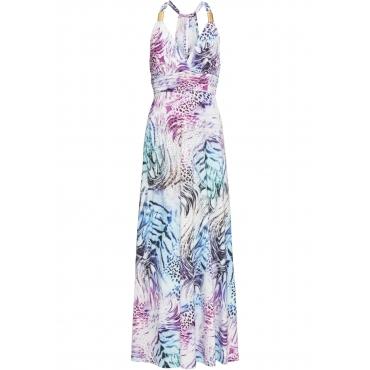Kleid mit Druck ohne Ärmel  in weiß für Damen von bonprix