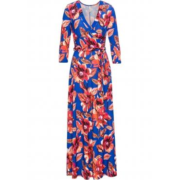 Kleid mit Gürtel 3/4 Arm  in blau von bonprix