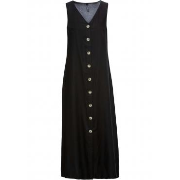 Kleid mit Hornimitatknöpfen ohne Ärmel  in schwarz für Damen von bonprix