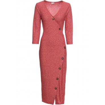 Kleid mit Knöpfen 3/4 Arm  in rot von bonprix