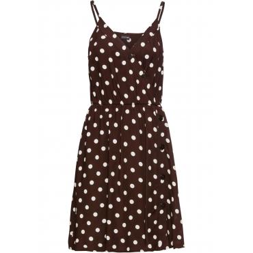 Kleid mit Knöpfen ohne Ärmel  in braun für Damen von bonprix
