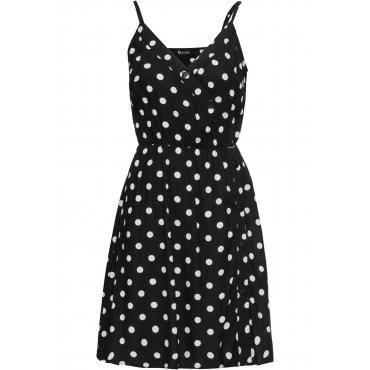 Kleid mit Knöpfen ohne Ärmel  in schwarz für Damen von bonprix