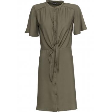 Kleid mit Knoten kurzer Arm  in grün von bonprix