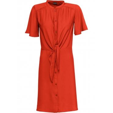 Kleid mit Knoten kurzer Arm  in orange von bonprix