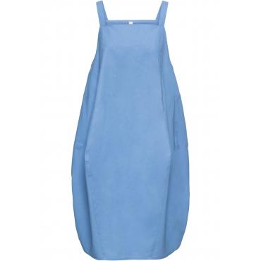 Kleid mit Leinenanteil ohne Ärmel  in blau für Damen von bonprix