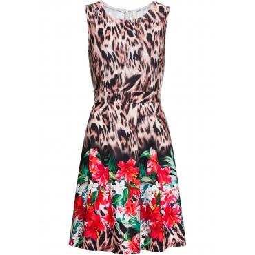 noch nicht vulgär Wählen Sie für neueste gut Kleid mit Leo-Blumen-Print ohne Ärmel in braun für Damen von ...
