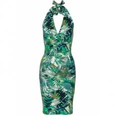 Kleid mit Leopardenmuster in grün von bonprix