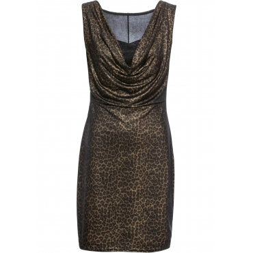 Kleid mit Metallic-Effekt ohne Ärmel  in schwarz für Damen von bonprix