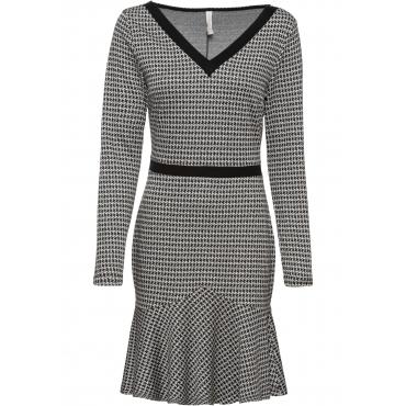 Kleid mit Muster langarm  in schwarz für Damen von bonprix