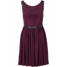 Kleid mit Nieten ohne Ärmel  in lila von bonprix