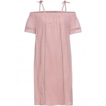 Carmen-Kleid in rosa für Damen von bonprix