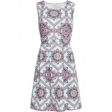 Kleid mit ornamentalem Druck ohne Ärmel  in blau für Damen von bonprix