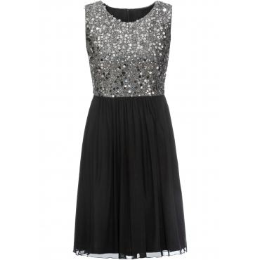 Kleid mit Pailletten ohne Ärmel  in schwarz für Damen von bonprix