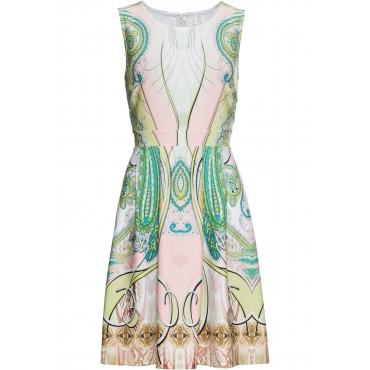 Kleid mit Paisley-Motiv ohne Ärmel  in grün für Damen von bonprix