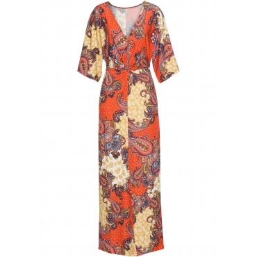 Kleid mit Print halber Arm  in gelb  von bonprix