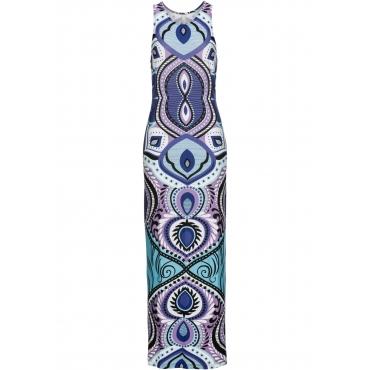 Kleid mit Print ohne Ärmel  in lila von bonprix