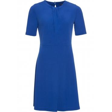 Kleid mit Raffung halber Arm  in blau von bonprix