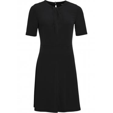 Kleid mit Raffung halber Arm  in schwarz von bonprix
