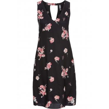 Kleid mit Rückenausschnitt ohne Ärmel  in schwarz von bonprix