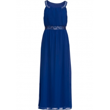 Kleid mit Schmuckstein-Applikation ohne Ärmel  in blau für Damen von bonprix
