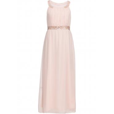 Kleid mit Schmuckstein-Applikation ohne Ärmel  in rosa für Damen von bonprix
