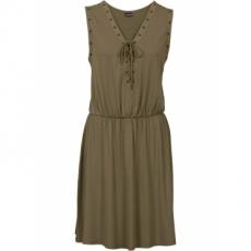 Kleid mit Schnürung in grün von bonprix