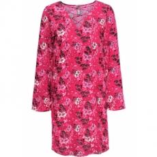Kleid mit Schnürung langarm  in rot von bonprix