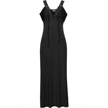 Kleid mit Schnürung ohne Ärmel  in schwarz von bonprix
