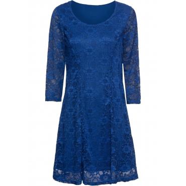 Kleid mit Spitze 3/4 Arm  in blau für Damen von bonprix